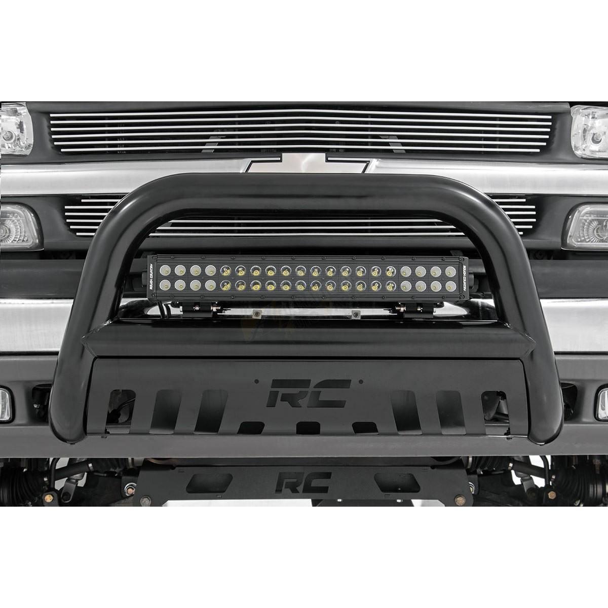 rough country 20 inch cree led light bar dual row black series