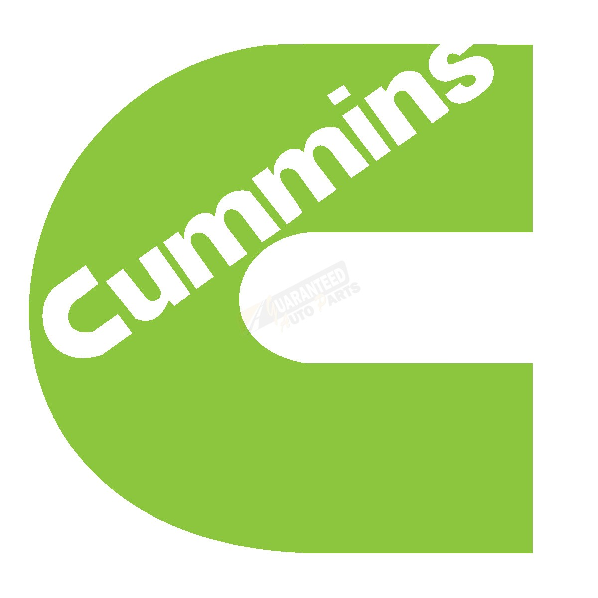 cummins logo decal 11quot lime green 550011063