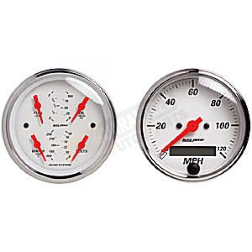 auto meter tachometer wiring diagram autometer street rod arctic white kit box gauge - elec ... arctic white auto meter gauges wiring diagram