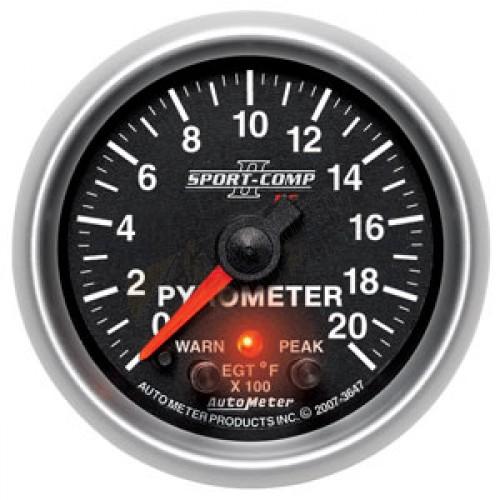 autometer sport comp ii pro control pyrometer gauge full. Black Bedroom Furniture Sets. Home Design Ideas