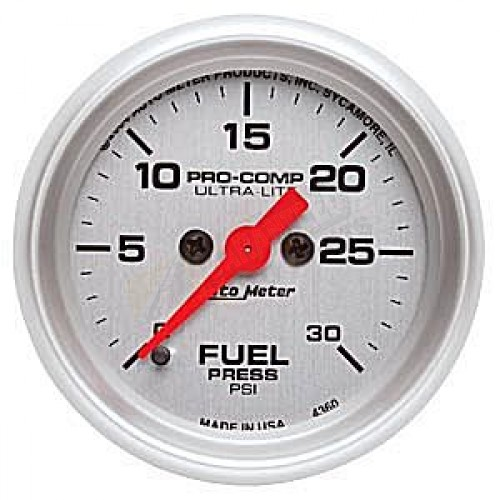 Autometer 4368 Ultra Lite Electric Water Pressure Gauge: Autometer Ultra-Lite Fuel Pressure Gauge
