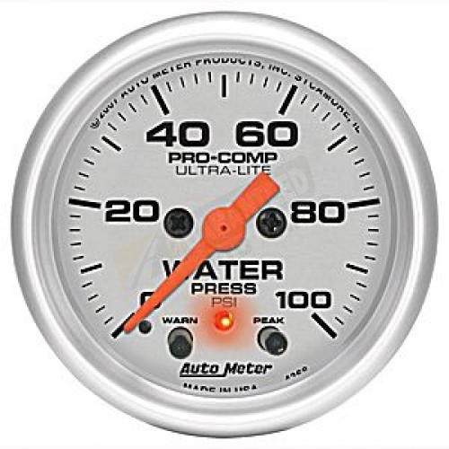 Autometer 4368 Ultra Lite Electric Water Pressure Gauge