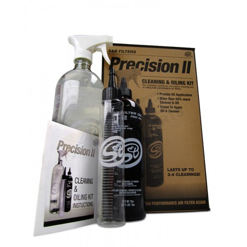 S&B Filters Precision II Cleaning & Oil Service Kit - 88-0008
