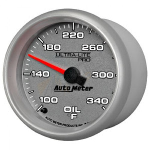 Autometer 4368 Ultra Lite Electric Water Pressure Gauge: Autometer Ultra-Lite Pro Oil Temperature Gauge