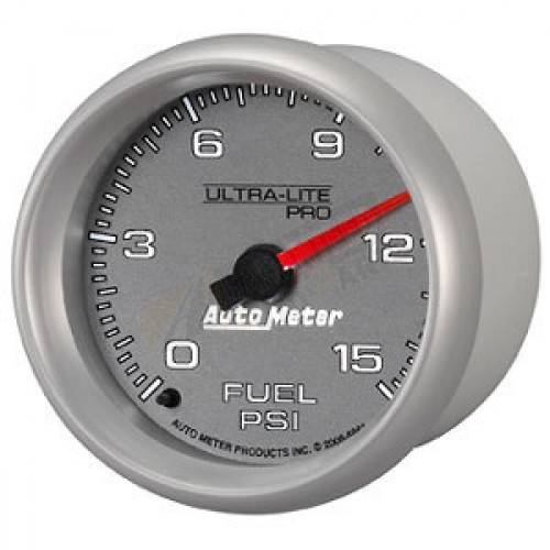 Autometer 4368 Ultra Lite Electric Water Pressure Gauge: Autometer Ultra-Lite Pro Fuel Pressure Gauge