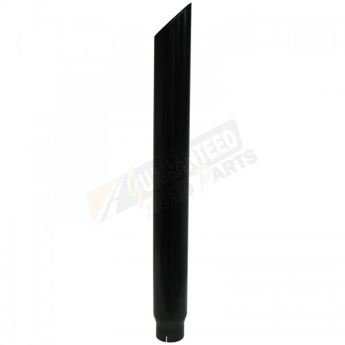 "MBRP Smokers Stack Tip - Angle Cut - 4"" Inlet - 5"" Outlet - 48"" Length - Black Powdercoated - B1540BLK"
