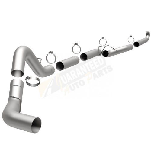 """Magnaflow 5"""" Downpipe-Back Aluminized Single Exhaust System - No Muffler (Straight Pipe) - 18982"""