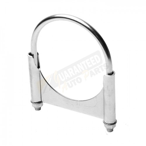 "Grand Rock 4"" Aluminized HD Guillotine Single Edge Saddle Clamp - RB-4ZN"