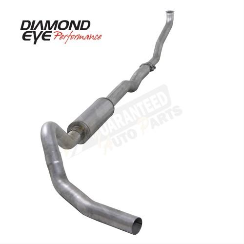 "Diamond Eye Performance Aluminized 4"" Single Turbo Back Exhaust System - With Muffler - K4102A"