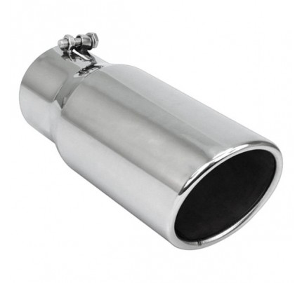 """15/"""" LENGTH DIFFERENT TREND STAINLESS EXHAUST TIP 6/"""" OUTLET 4/"""" INLET"""