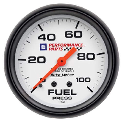 Autometer GM Performance Parts Fuel Pressure Gauge - Mechanical - (Size: 2  5/8